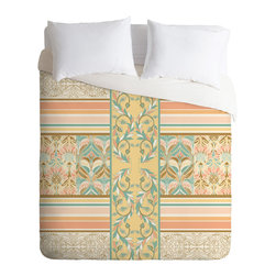 DENY Designs - Jacqueline Maldonado Vintage Stripe Duvet Cover - Turn your basic, boring down comforter into the super stylish focal point of your bedroom. Our Luxe Duvet is made from a heavy-weight luxurious woven polyester with a 50% cotton/50% polyester cream bottom. It also includes a hidden zipper with interior corner ties to secure your comforter. it's comfy, fade-resistant, and custom printed for each and every customer.