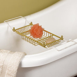 Eubank Tub Caddy - This useful bathtub accessory adds a convenient place to store your bathtub supplies. The Eubank Tub Caddy is durable and made to last.