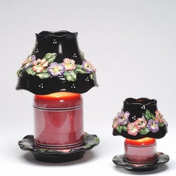 ATD - 4.25 Inch Large Jar Shade and Matching Plate Set with Floral Design - This gorgeous 4.25 Inch Large Jar Shade and Matching Plate Set with Floral Design has the finest details and highest quality you will find anywhere! 4.25 Inch Large Jar Shade and Matching Plate Set with Floral Design is truly remarkable.