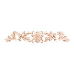 Hardware Resources - Cherry Onlays Acanthus Onlays and Appliques - Bring visual interest to flat areas with these lovely appliqués. Add your unique touch to a doorway, mantel, window or ceiling. Combine different onlays for endless possibilities and creative whimsy.