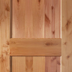 Authentic Wood Interior Doors - Knotty Alder Shaker Style Two Panel ...
