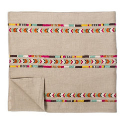 Chevron Table Runner - Beautifully Embroidered Chevron Style Table Runner