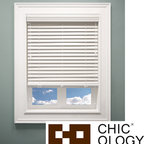 None - Chicology Off White Faux Wood Blinds - From the kitchen to the study,every room in your home gets a style uplift with the addition of these distinguished faux-wood blinds. These blinds are generously sized 2-inch panels with the look of real wood,accented with color correct ladder strings.