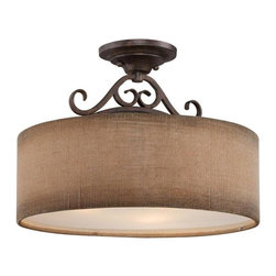 Quoizel Lighting - Quoizel Lighting-CLS1717OZ-Carlsbad - Three Light Semi-Flush Mount - *Shade Included.