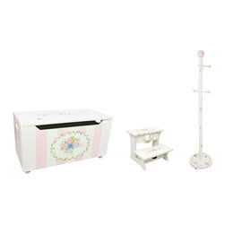 Teamson Design Corporation - Teamson Design Bouquet Toy Box with Coat Rack and Step Stool Multicolor - BD-000 - Shop for Stepstool from Hayneedle.com! About Teamson DesignBased in Edgewood N.Y. Teamson Design Corporation is a wholesale gift and furniture company that specializes in handmade and hand painted kid-themed furniture collections and occasional home accents. In business since 1997 Teamson continues to inspire homes with creative and colorful furniture.