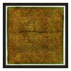 Wendover Art - Ancient Ikat IV - This striking Giclee on Paper print adds subtle style to any space. A beautifully framed piece of art has a huge impact on a room for relatively low cost! Many designers and home owners select art first and plan decor around it or you can add artwork to your space as a finishing touch. This spectacular print really draws your eye and can create a focal point over a piece of furniture or above a mantel. In a large room or on a large wall, combine multiple works of art to in the same style or color range to create a cohesive and stylish space!