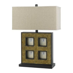 CAL Lighting - Cal Lighting BO-2089TB Four Picture Frame Table Lamp - Cocoa by Cal - 150W 3WY TABLE LAMP W PICTURES