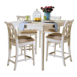 American Drew - American Drew Camden-Light Gathering Table in White Painted - Gathering Table in White Painted belongs to Camden-Light collection by American Drew The Camden-Light collection melds simple forms with quiet traditional references, gentle curves and a beautiful time worn ivory finish that lets the character of the wood show through. The brushed nickel finish hardware adds even more character to the Camden collection. This line will work great in your renovated farm house or a smaller beach cottage get-away.