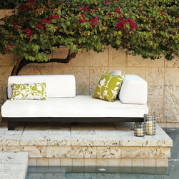 Tillary Outdoor Sofa - No messy barbecue allowed on this one. I'll just watch the kids swim and read a good book here.