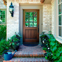 Entry Doors - Walnut True Divided Lite Exterior Door