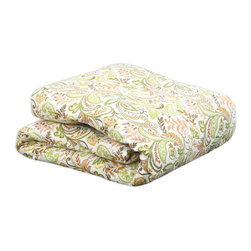 Chooty & Co. - Chooty and Co Findlay Apricot Bedding Set Multicolor - CHO5243 - Shop for Bedding Sets from Hayneedle.com! With its updated retro design in fresh colors the Chooty and Co Findlay Apricot Bedding Set makes your bedroom even more inviting. Its all-over botanical pattern in avocado green harvest gold orange and browns creates the look. Choose just the comforter or add on a variety of coordinating pillow shams and decorative pillows (sold separately) to create a complete bedroom makeover. This bedding set is constructed of a linen/rayon blend with poly fill and is hand-wash or spot clean only. Available in your choice of size.About Chooty & Co.A lifelong dream of running a textile manufacturing business came to life in 2009 for Connie Garrett of Chooty & Co. This achievement was kicked off in September of '09 with the purchase of Blanket Barons well known for their imported soft as mink baby blankets and equally alluring adult coverlets. Chooty's busy manufacturing facility located in Council Bluffs Iowa utilizes a talented team to offer the blankets in many new fashion-forward patterns and solids. They've also added hundreds of Made in the USA textile products including accent pillows table linens shower curtains duvet sets window curtains and pet beds. Chooty & Co. operates on one simple principle: What is best for our customer is also best for our company.
