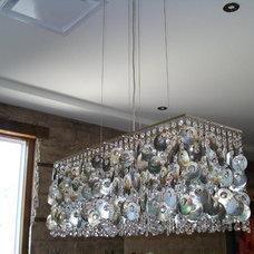 Eclectic Chandeliers by gennxo  Interior Constuction Designer
