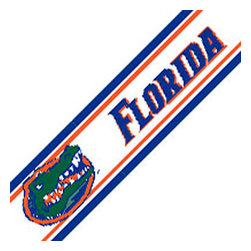 Trademarx Wall Decor - NCAA Florida Gators College Wallpaper Accent Border Roll - Features: