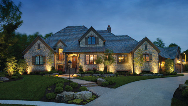 Traditional Exterior by Outdoor Lighting Perspectives