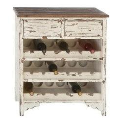 "Benzara - Classic Wood Wine Cabinet - Classic Wood Wine Cabinet 32""H, 28""W"