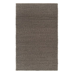 Surya - Hand Woven Anchorage Wool Rug ANC-1003 - 9' x 12' - Reminiscent of a cable knit sweater the Anchorage Collection is one of Surya's most unique rugs. Made of 1% New Zealand felted wool, this ultra textured shag makes and impressive statement within any room.