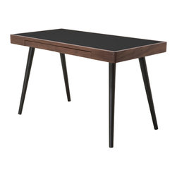 Matt Walnut Black Desk - This desk by Nuevo is part of their Matt collection and comes in a walnut and black finish.