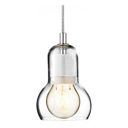 """&Tradition - Copenhagen - &Tradition - Copenhagen Bulb Pendant Light - The Bulb pendant light was designed by Sofie Refer for &Tradition in 2001  The Bulb pendant light won the Good Design Award in 2001 by the Chicago Athenaeum, Museum of Architecture and Design.  The Bulb is made from a high quaility mouth-blown glass, with a polished edge.  The electrical componets are made from stainless steel with a porcelian lamp holder.  Available with a clear cord or red cord.   Product description:  The Bulb pendant light was designed by Sofie Refer for &Tradition in 2001  The Bulb pendant light won the Good Design Award in 2001 by the Chicago Athenaeum, Museum of Architecture and Design.  The Bulb is made from a high quaility mouth-blown glass, with a polished edge.  The electrical componets are made from stainless steel with a porcelian lamp holder.  Available with a clear, red or black cord that is 72"""" in length.               Details:     Manufacturer:  & Traditions       Designer:  Sofie Refer     Made in:  Denmark     Dimensions:  Width: 4.3""""(11 cm) X Height: 6.4"""" (16.5 cm) X Cord Length is 72"""" (182 cm)     Light bulb::  1 X 40W E26 Incandescent (UL Listed Vers.) or 1 X 60 W Max E26 incandescent (Non-UL vers)     Material:     Glass, stainless, porcelian        Bulb pendant light"""