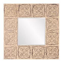 Howard Elliott - Howard Elliott Upton Square Tile Mirror - Upton square mirror