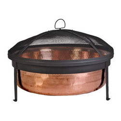 Hammered Copper Fire Bowl - I don't have a fire bowl in my backyard, but I do have my eye on this one. The hammered copper is stunning.