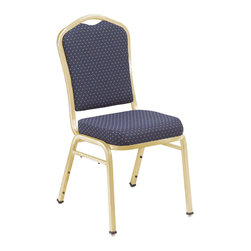 National Public Seating - National Public Seating 9360 Silhouette Fabric Padded Stack Chair - Add upscale ambience to any cafeteria, lounge or banquet hall with this stylish Silhouette Back stacking chair. It features a concealed double back for a more refined look, and built-to-last construction from rugged 7/8 inch square 18-gauge steel tubing. The seat and back fabric is scotch guarded to prevent staining. These stackable chairs become extremely portable when combined with a dolly.