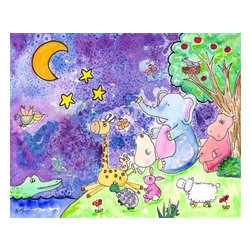 Oh How Cute Kids by Serena Bowman - Moonlight Sonata, Ready To Hang Canvas Kid's Wall Decor, 20 X 24 - Every kid is unique and special in their own way so why shouldn't their wall decor be so as well! With our extensive selection of canvas wall art for kids, from princesses to spaceships and cowboys to travel girls, we'll help you find that perfect piece for your special one.  Or fill the entire room with our imaginative art, every canvas is part of a coordinating series, an easy way to provide a complete and unified look for any room.