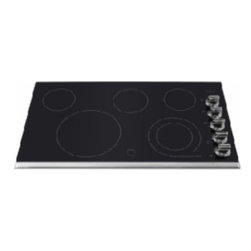 "Frigidaire - FGEC3645PS Frigidaire GALLERY 36"" Ceramic Electric Cooktop featuring Ceramic Gla - The Frigidaire GALLERY 36 Ceramic Electric Cooktop is the perfect cooktop to have with a ceramic glass surface and a stainless trim The control knobs are black along with right side controls Also it has bevelled edges on its non trimmed sides"