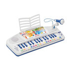 The Original Toy Company - The Original Toy Company Kids Children Play Speak and Play Computer Organ - This 32 key electronic speaking organ with microphone is an educational and interactive musical instrument. You will learn to recognize 7 sounds, 7 styles, 7 pre-recorded melodies. The voice guides you through the 7 interactive games to help your first steps into the world of music. Record and playback tunes. Volume control. Adjustable microphone. Magic light show. Tunes to play immediately included. 3 AA batteries required.