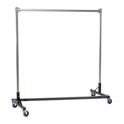 "Quality Fabricators - Z-Rack - Heavy Duty 60"" Long Base Single Rail w/ 60"" Uprights Black - If you don't know what five feet of upright storage combined with five feet of length can do, You've got to try this clothes rack. With perfect proportions, and a variety of colors to choose from, this clothes rack can solve a variety of storage problems. From home organization to office and organization apparel needs, this is a home run hit."