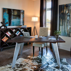Eclectic Home Office by I.O. Metro