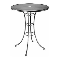 Homecrest Mesh 36 in. Round Bar Height Table