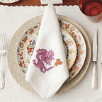 Dragon Napkins - These incredible and stunning dragon napkins are available in six color combinations.
