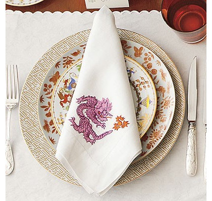 asian table linens by Number Four Eleven