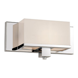 Polished Chrome And Acrylic Cube 1 Light Bath/Wall Sconce - Condition: New - in box