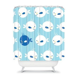 DENY Designs Khristian A Howell Baby Beach Bum 2 Shower Curtain - You'll have a whale of a time trying to find anything cuter than the DENY Designs Khristian A Howell Baby Beach Bum 2 Shower Curtain. Cheery and colorful whales adorn this modern shower curtain for a look that's friendly, fun, and super stylish.About DENY DesignsDenver, Colorado based DENY Designs is a modern home furnishings company that believes in doing things differently. DENY encourages customers to make a personal statement with personal images or by selecting from the extensive gallery. The coolest part is that each purchase gives the super talented artists part of the proceeds. That allows DENY to support art communities all over the world while also spreading the creative love! Each DENY piece is custom created as it's ordered, instead of being held in a warehouse. A dye printing process is used to ensure colorfastness and durability that make these true heirloom pieces. From custom furniture pieces to textiles, everything made is unique and distinctively DENY.