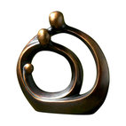 Uttermost - Family Circles Bronze Figurine - Families come in all shapes and sizes, like this sculpture, perfectly in tune with one another. Give your space a soothing, calming accent piece and use it as your touchstone.