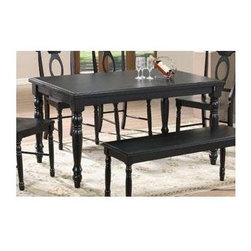 Winners Only - Quails Run Leg Dining Table in Ebony Finish - Chairs sold separately. Rectangular shape. Minimal assembly required. 60 in. L x 36 in. W x 30 in. H
