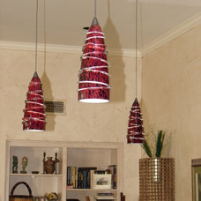 Eclectic Pendant Lighting by Dallas Renovation Group