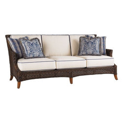 Lexington - Tommy Bahama Island Estate Lanai Sofa - The cushion sets for this frame style are available with either a boxed-edge back cushion or with multiple scatter back pillows. Both sets include throw pillows to add color, pattern or trim with Final Touches no charge options.
