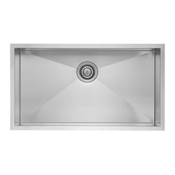Blanco - BLANCO QUATRUS R0 Stainless Steel Super Single Bowl Undermount Sink - BLANCO 518172 QUATRUS R0 Stainless Steel Super Single Bowl Undermount sink