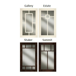 Decora Mullion Glass Cabinet Doors - Decora opens a window into your world with 4 new mullion glass door designs.