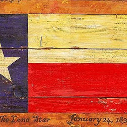 Red Horse Signs - Vintage Signs Texas Flag   Large - Salute  that  Texas  spirit  with  our  vintage  Texas  Flag  sign  that  measures  20x32  inches.  Printed  directly  to  distressed  wood  this  rustic  sign  has  a  timeworn  appearance  perfect  for  rustic  ranch  house  cabin  or  western  lodge.
