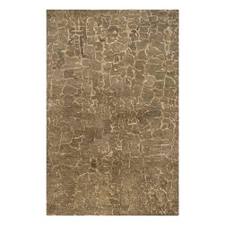 Surya - Banshee Brown Rectangular Area Rug - Rich and warm color palette and unique design make this Banshee Brown Rectangular Area Rug a truly elegant accent in your home. With its high quality construction, the rug is loomed in 100% wool. The rug has plush pile for maximum softness and rich Brown with Parchment coloring for charm.