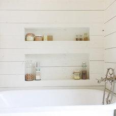 Farmhouse Bathroom by Studio 512