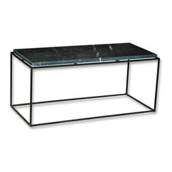 Coffee Table with Marble Top with Iron Frame - Coffee Table with Marble Top with Frame