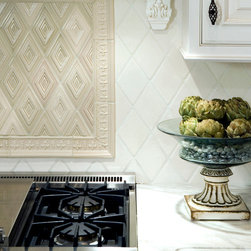 Kitchens - Sonoma Tilemakers Artisan series in Baraka in Smoke and Wallaby, Riyad in Wallaby, Rhombus in Creamy Crackle