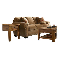 Broyhill - Broyhill Cambridge Queen Good Night Sleeper Sofa with Attic Heirlooms Wood Stain - Broyhill - Sleeper Sofas - 50547Q1 - About This Product: