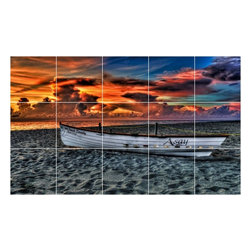 Picture-Tiles, LLC - Boat Ship Picture Kitchen Bathroom Ceramic Tile Mural  12.75 x 21.25 - * Boat Ship Picture Kitchen Bathroom Ceramic Tile Mural 1239