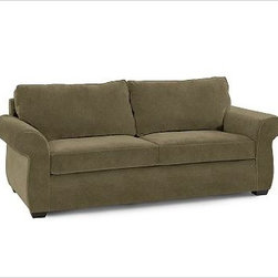 """Pearce Upholstered Love Seat, Down-Blend Wrap Cushions, Velvet Sage - Distinguished by its extra-deep cushions, welted seams and hardwood feet, our Pearce Love Seat has a luxurious feel. 73"""" w x 41"""" d x 38"""" h {{link path='pages/popups/pearce-pdf-fd3-p3.html' class='popup' width='720' height='800'}}View the dimension diagram for more information{{/link}}. {{link path='pages/popups/pearce-pdf-fd3-p5.html' class='popup' width='720' height='800'}}The fit & measuring guide should be read prior to placing your order{{/link}}. Extra-deep hypoallergenic down-blend-wrapped cushions have an extra-thick foam core. Proudly made in America, {{link path='/stylehouse/videos/videos/pbq_v36_rel.html?cm_sp=Video_PIP-_-PBQUALITY-_-SUTTER_STREET' class='popup' width='950' height='300'}}view video{{/link}}. For shipping and return information, click on the shipping tab. When making your selection, see the Quick Ship and Special Order fabrics below. Additional fabrics not shown below {{link path='pages/popups/pearce-pdf-fd3-p6.html' class='popup' width='720' height='800'}}can be seen here{{/link}}. Please call 1.888.779.5176 to place your order for these additional fabrics."""