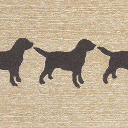 "Trans-Ocean - 24""x36"" Frontporch Doggies Black Mat - Richly blended colors add vitality and sophistication to playful novelty designs.Lightweight loosely tufted Indoor Outdoor rugs made of synthetic materials in China and UV stabilized to resist fading.These whimsical rugs are sure to liven up any indoor or outdoor space, and their easy care and durability make them ideal for kitchens, bathrooms, and porches. Made in China."
